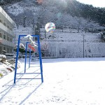 雪景色(遊子川小学校)