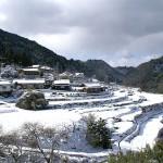 下蔭地区の棚田(雪景色)